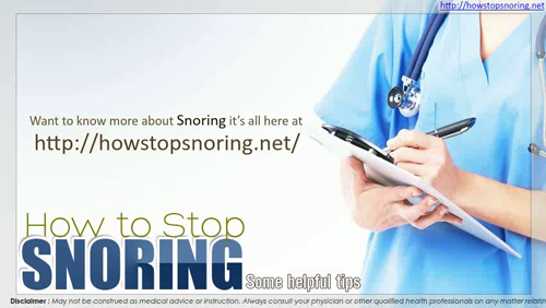 Snoring Remedies That Work'