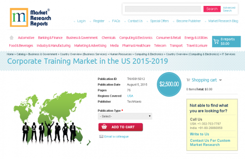 Corporate Training Market in the US 2015-2019'