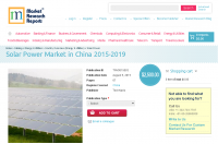 Solar Power Market in China 2015-2019