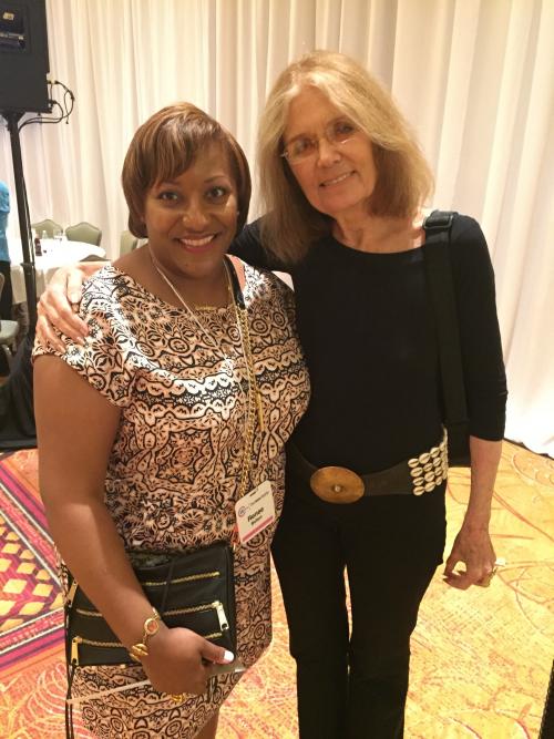 Author Renee Bolton with Activist Gloria Steinem'