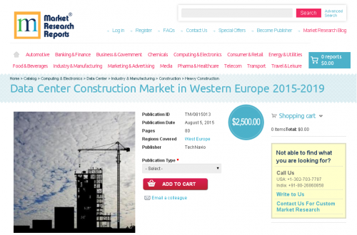 Data Center Construction Market in Western Europe 2015-2019'