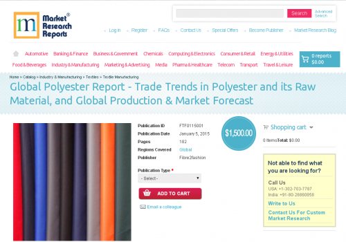 Global Polyester Report - Trade Trends in Polyester'