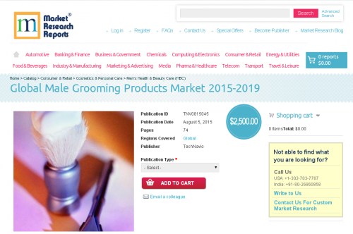 Global Male Grooming Products Market 2015-2019'