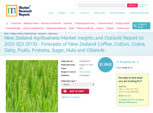 New Zealand Agribusiness Market Insights and Outlook Report'