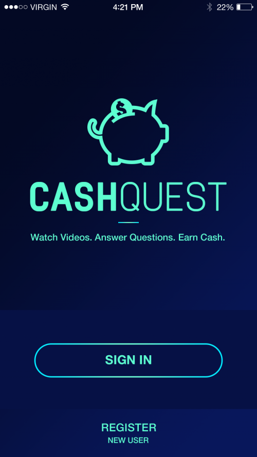 Cash Quest App from Effective Commercial Advertising'