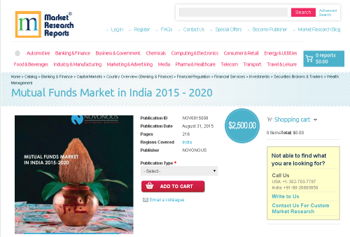 Mutual Funds Market in India 2015 - 2020'