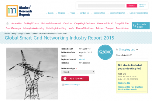 Global Smart Grid Networking Industry Report 2015'
