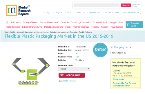 Flexible Plastic Packaging Market in the US 2015-2019'