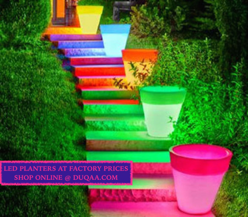 New and Modern Style Led Planters'