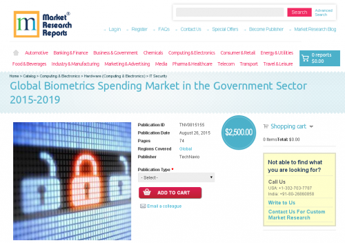 Global Biometrics Spending Market in the Government Sector'