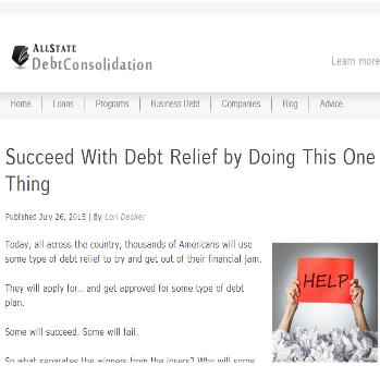 Successfull Debt Relief Tips'