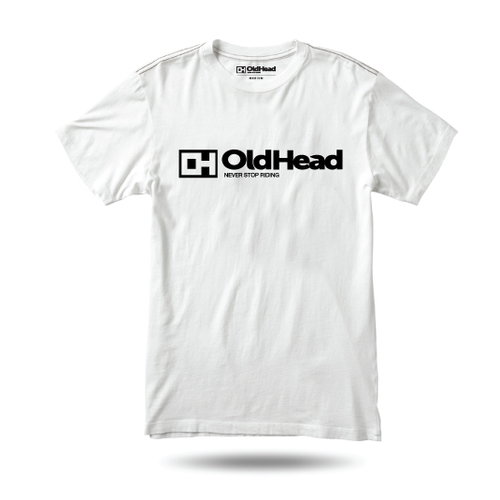 OldHead Clothing Never Stop Riding White T-shirt