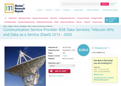 Communication Service Provider B2B Data Services'