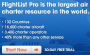 World's Largest Air Charter Listings - Free 30-Day Tria