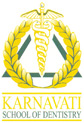 Logo for Karnavati School of Dentistry'