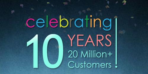 10 year celebration'
