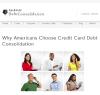 Americans Choose Credit Card Debt Consolidation'