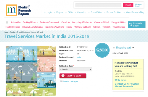 Travel Services Market in India 2015-2019'