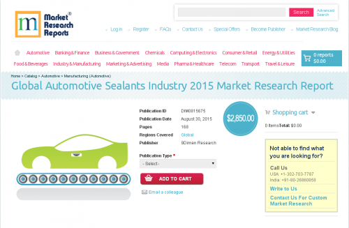 Global Automotive Sealants Industry 2015'