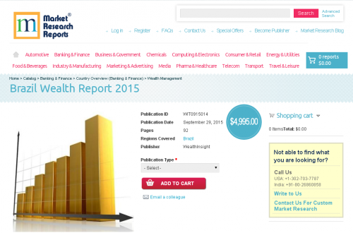 Brazil Wealth Report 2015'