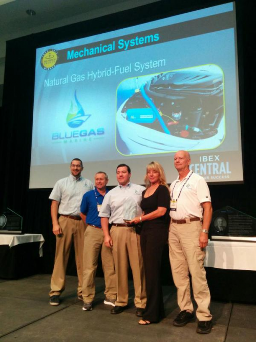 Blue Gas Marine, Inc Team Awarded 2015 IBEX Innovation Award'