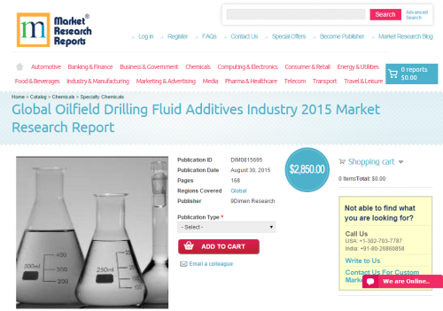 Global Oilfield Drilling Fluid Additives Industry 2015'