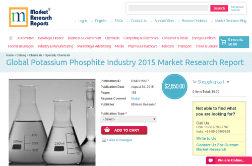 Global Potassium Phosphite Industry 2015'