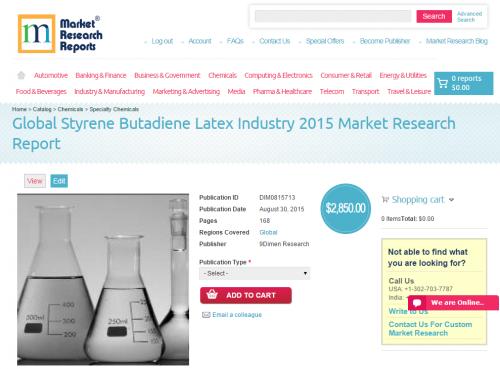 Global Styrene Butadiene Latex Industry 2015'