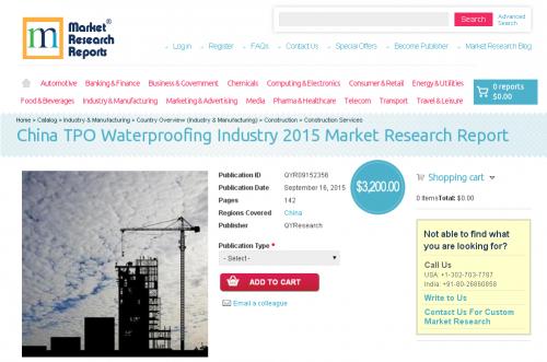 China TPO Waterproofing Industry 2015'