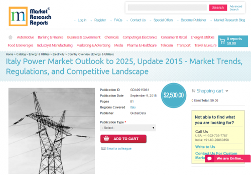 Italy Power Market Outlook to 2025, Update 2015'
