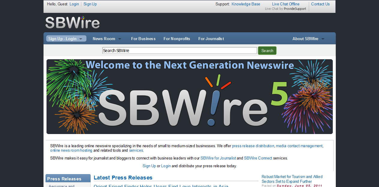 SBWire/ReleaseWire in 2011