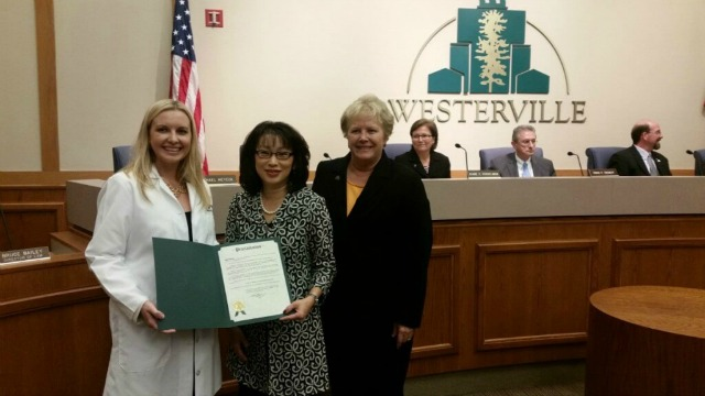 Dr. Grawe Proclamation for Breast Cancer Awareness