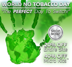 Discount of Safe Cig on World No Tobacco Day'