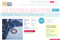 Animal Health Market in North America 2015 - 2019