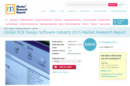 Global PCB Design Software Industry 2015'