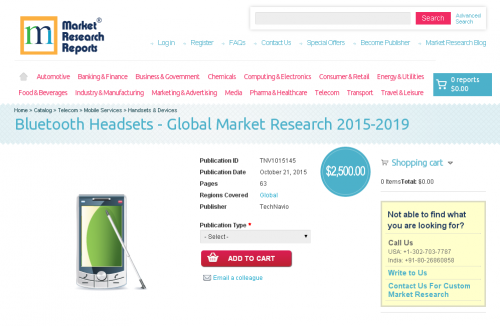 Bluetooth Headsets - Global Market Research 2015-2019'