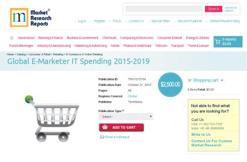 Global E-Marketer IT Spending 2015-2019'