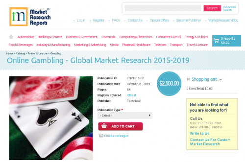 Online Gambling - Global Market Research 2015-2019'