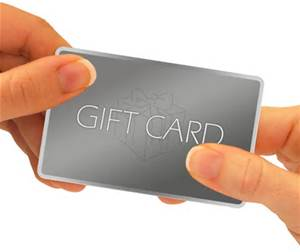 Gift cards hand to hands