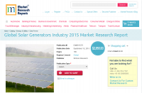 Global Solar Generators Industry 2015