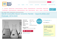 World Green/Bio-Based Solvents Market - Opportunities