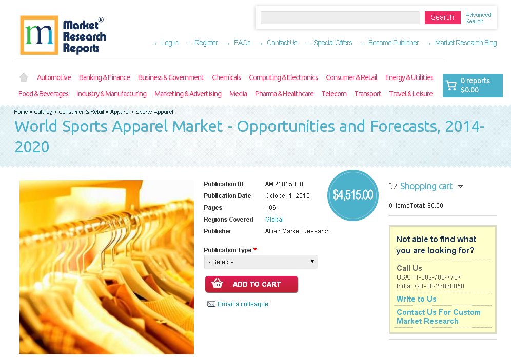 global sports apparel market Explore six trends expected to disrupt and dominate the sports industry in 2018.