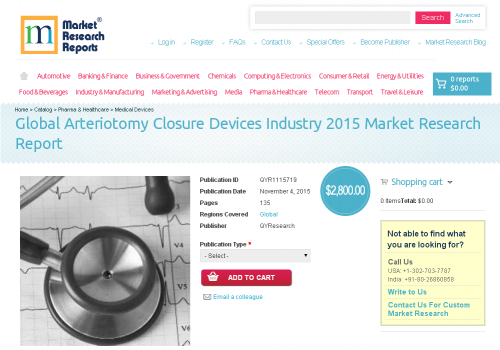 Global Arteriotomy Closure Devices Industry 2015'