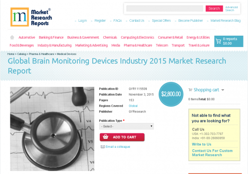 Global Brain Monitoring Devices Industry 2015'