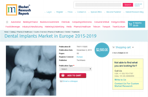 Dental Implants Market in Europe 2015-2019'