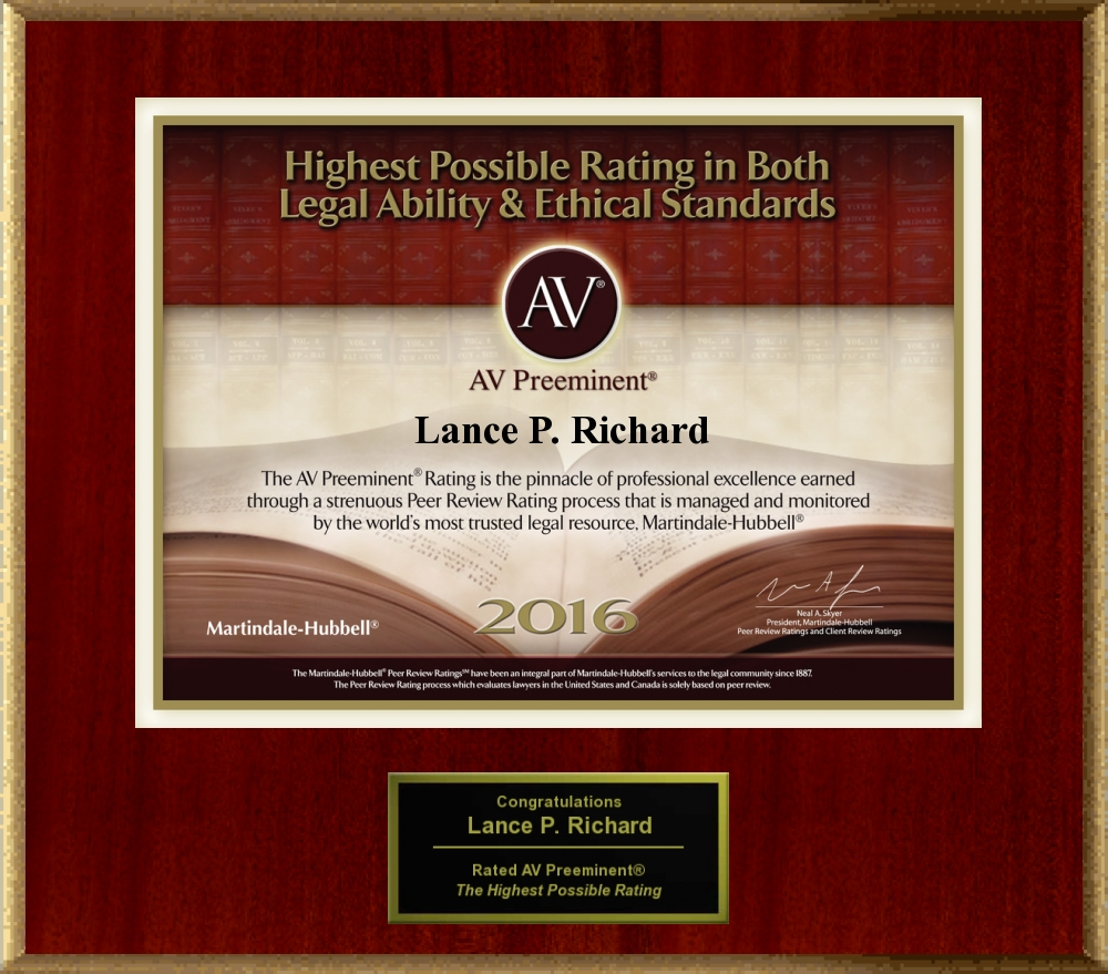 AV Preeminent Rating Award