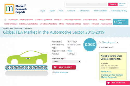 Global FEA Market in the Automotive Sector 2015-2019'