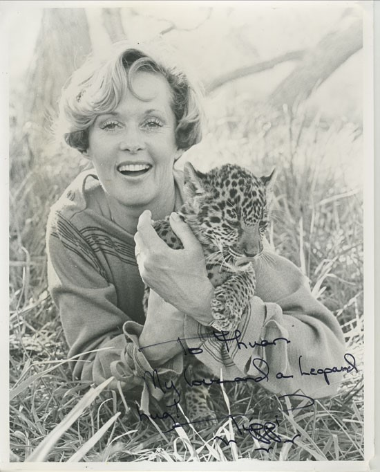 Tippi with Leopard