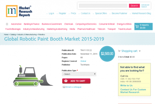 Global Robotic Paint Booth Market 2015-2019'