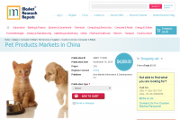 Pet Products Markets in China